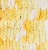 Пряжа Alize Puffy Color желтый принт 5921
