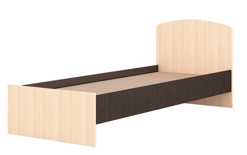 Кровать 0,8 Ненси-1 ЛДСП ТЭКС венге/дуб молочный