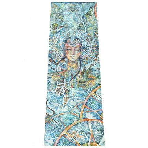 Коврик для йоги Яна (Veda Ram) 183*61*0,35 см из микрофибры и каучука