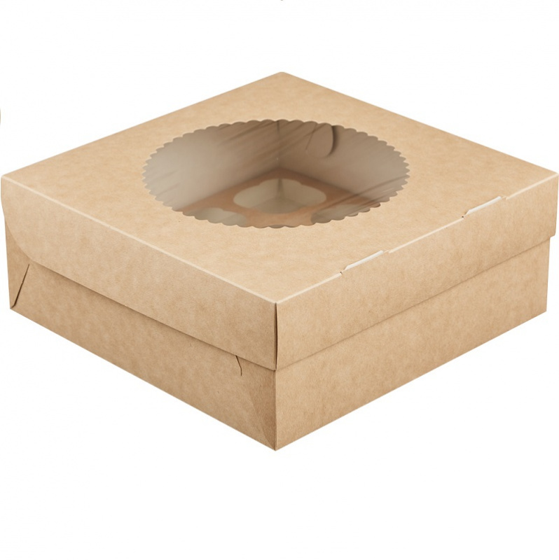 Коробка на 9 капкейков c окном