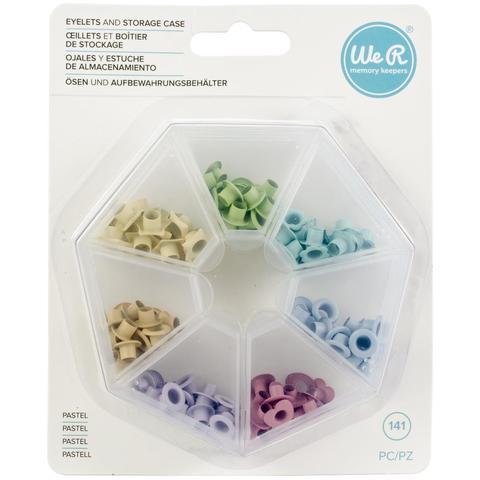 Люверсы цветные в кейсе- We R Eyelets W/Storage Case - Pastel