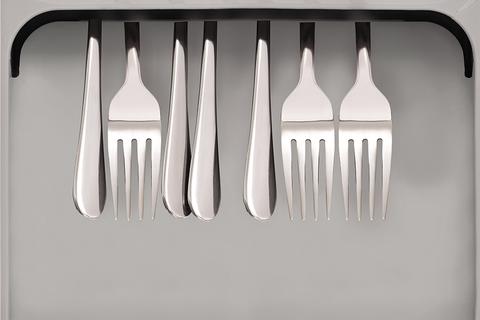 Органайзер для столовых приборов DrawerStore Large серый