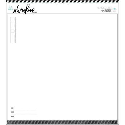 Набор файлов со страничками Heidi Swapp Storyline 2 Refill Pack 30*30 см