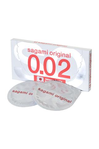Ультратонкие полиуретановые презервативы Sagami «Original 0.02» 2 шт.