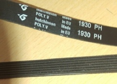 Ремень 1930 H7  (1930мм) сушильной машины Electrolux, ZANUSSI и др. 116358, 8996470700601, Веко 2951240100