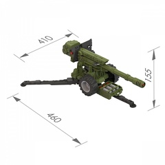 Пушка со снарядами (в коробке), Нордпласт, 354/1