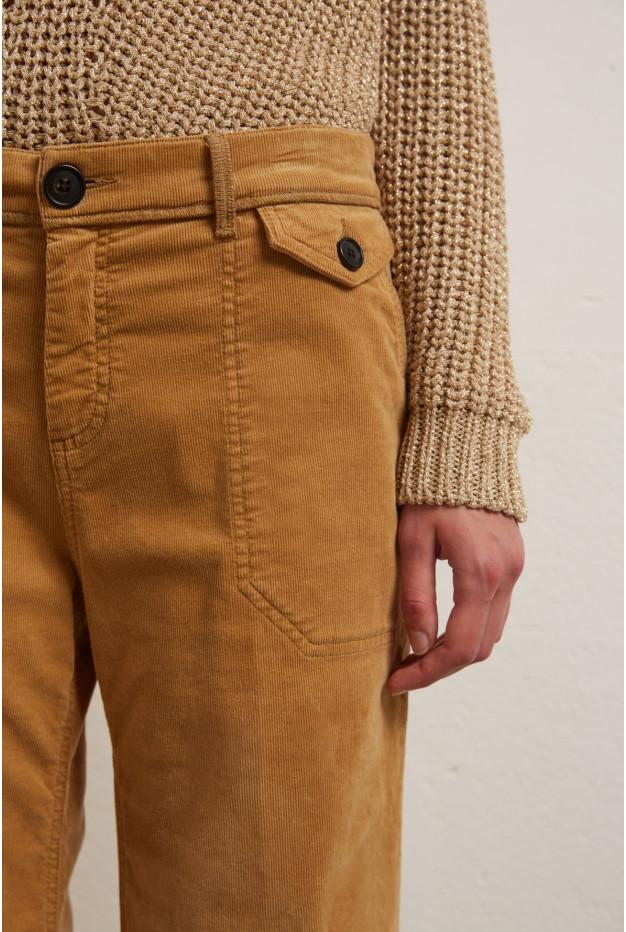 LEONIE - вельветовые расклешенные брюки