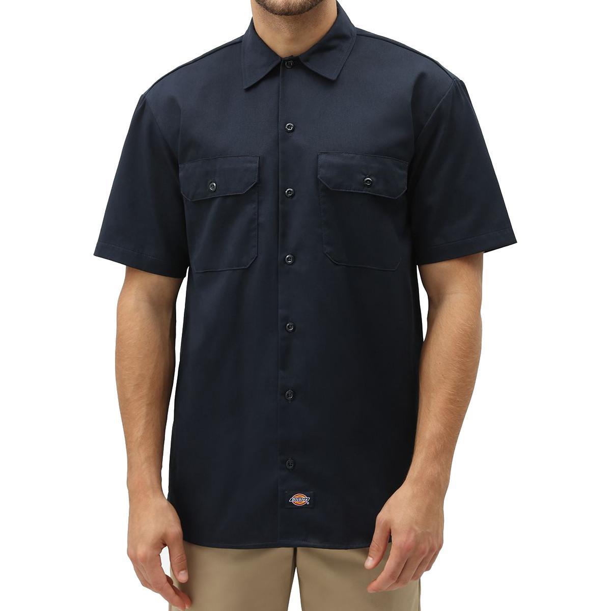 Рубашка DICKIES Short Sleeve Work Shirt (Dark Navy)
