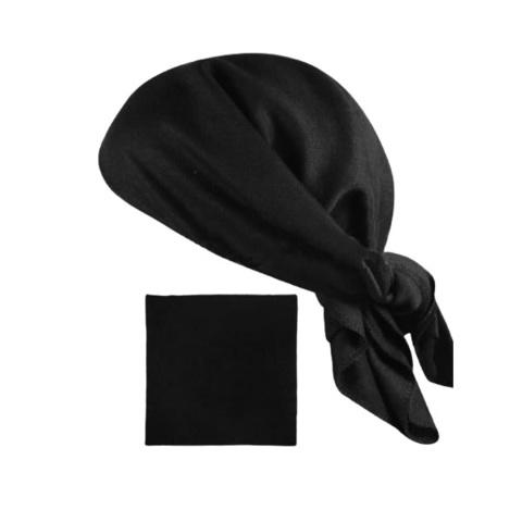 Бандана (косынка) черная  (хлопок 100%)