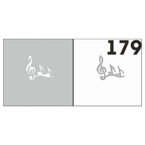Трафарет для ногтей 6 шт. /1 уп. №179