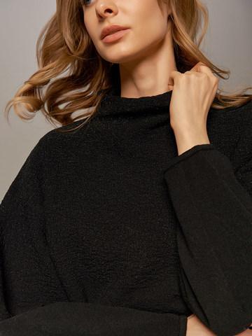 Женский джемпер черного цвета из шерсти - фото 2