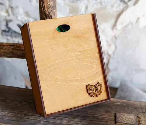 Подарочная коробка формата А6 из дерева (19*15*6 см)