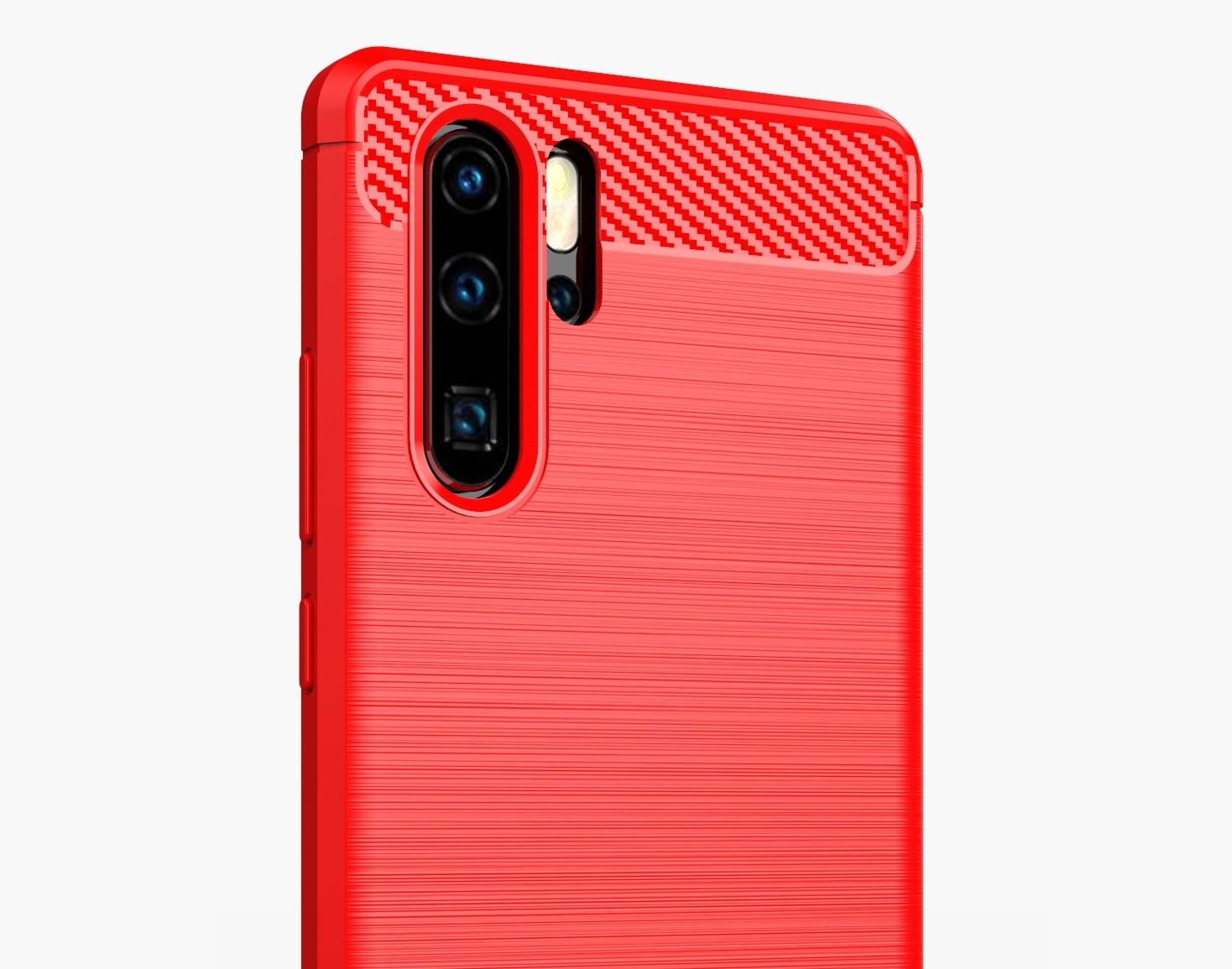 Чехол для Huawei P30 Pro цвет Red (красный), серия Carbon от Caseport