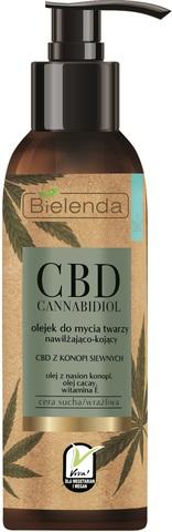 CBD Cannabidiol Гидрофильное масло для очищения лица из конопли для сухой и чувствительной кожи 140ml