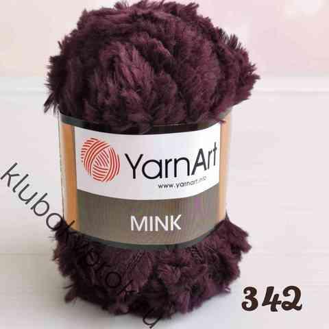 YARNART MINK 342, Темный сливовый