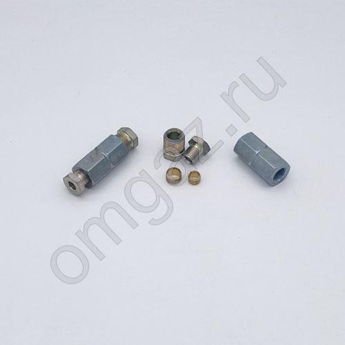 Муфта Atiker соединения трубки 6*8 сталь