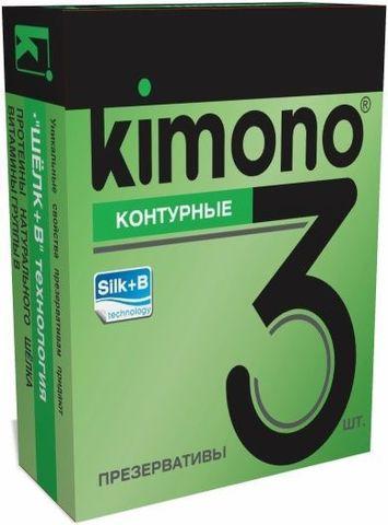 Контурные презервативы KIMONO - 3 шт.