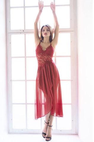 Сорочка женская  MIA-MIA Venera Венера 17305 бордовый