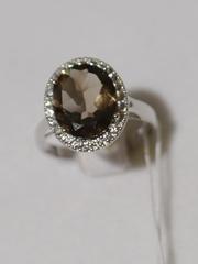 1100410-раухтопаз (кольцо из серебра)
