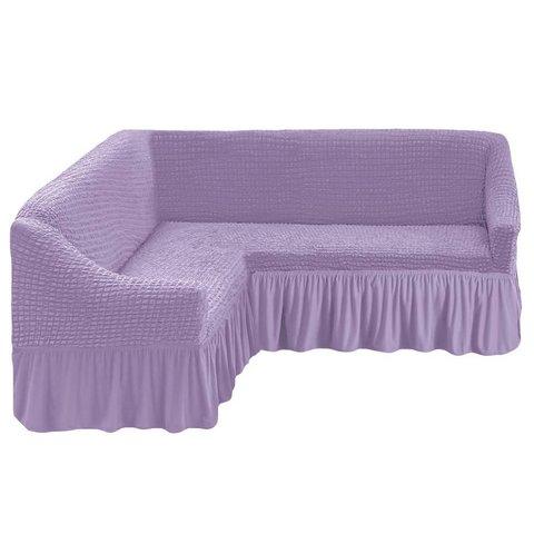 Чехол на угловой диван, сиреневый