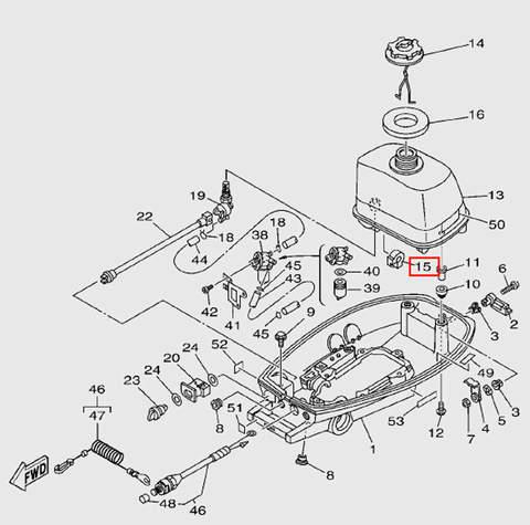 Демпфер  бака  для лодочного мотора T5 Sea-PRO (7-15)