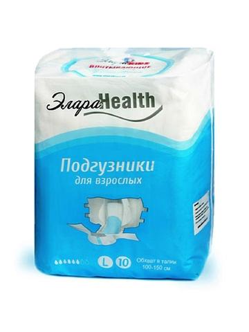 Подгузники для взрослых ЭлараHEALTH размер L (110-150 см), 10 шт.