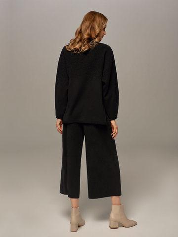 Женский джемпер черного цвета из шерсти - фото 5