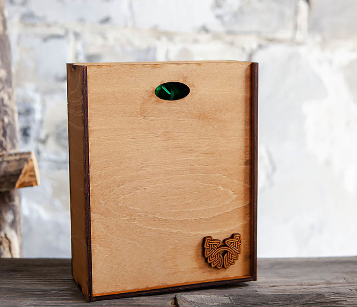 BOX231-2 Подарочная коробка формата А6 из дерева (19*15*6 см) фото 02