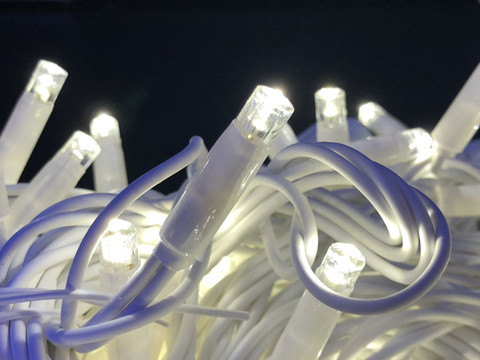 Гірлянда-нитка Вулична String light 100 LED CX 10 м. синя