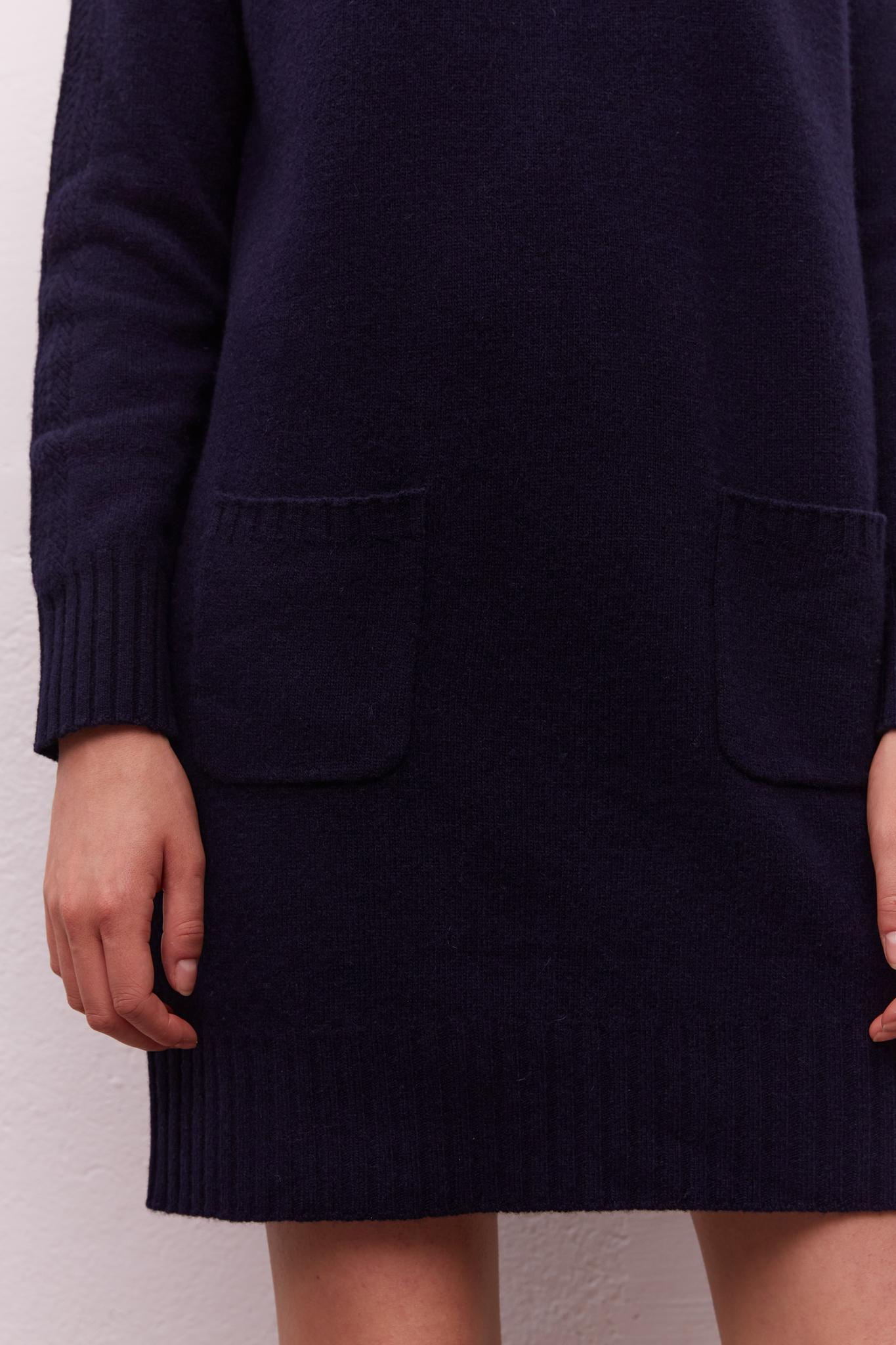 Шерстяное платье-пуловер