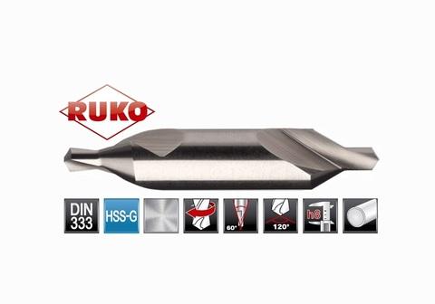 Сверло центровочное Ruko DIN333 HSS №А 0,8х20,0мм 217008 (Одностороннее)