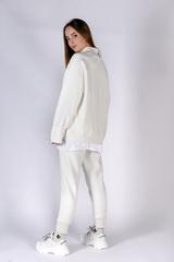 Белый спортивный костюм женский на флисе купить