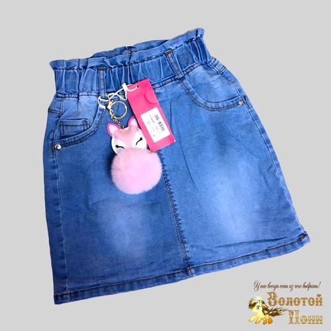 Юбка джинсовая девочке (6-11) 210312-DS-833B