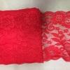 Кружево эластичное, 18см, цвет-красный