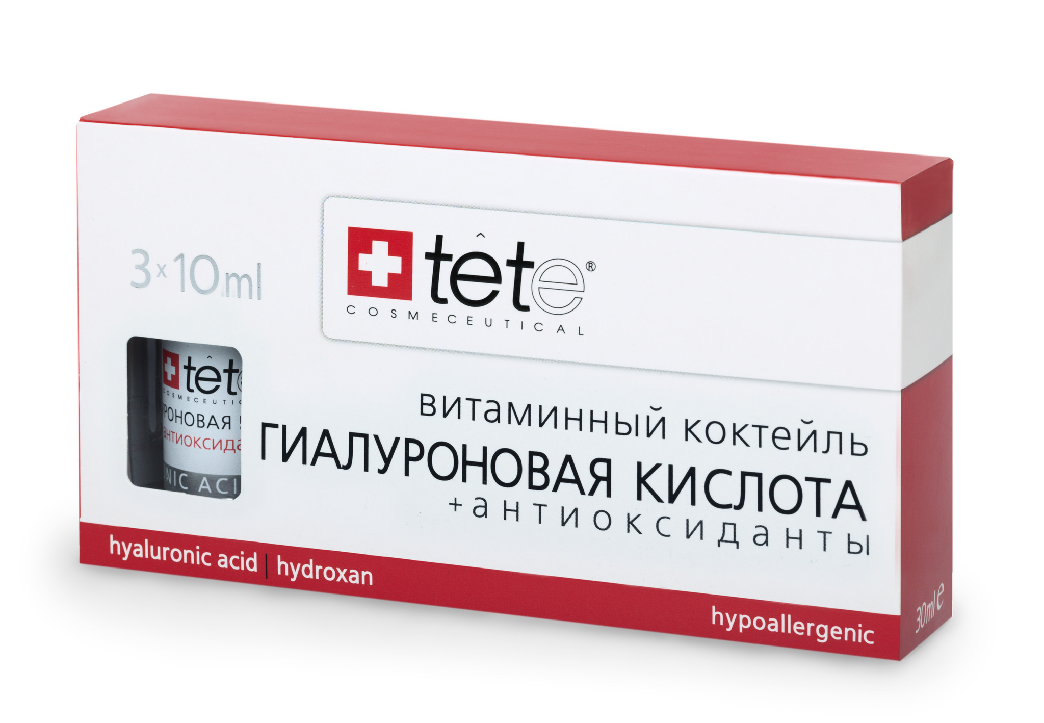 Гиалуроновая кислота + Антиоксиданты / TETe Hyaluronic Acid & Antioxidants (Vit.C) 3*10 ml