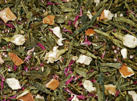 Зеленый чай Яблоко с цветами
