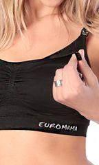Евромама. Топ бесшовный послеродовой, черный вид 2