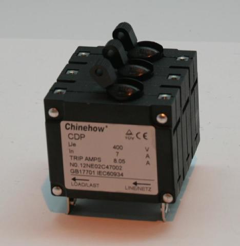 Выключатель автоматический DDE 7А, 3Ф  DPG7553-3E/DDG6000-3E