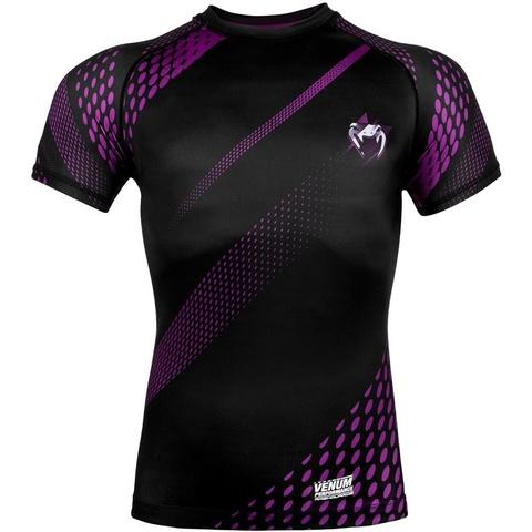 Рашгард Venum Rapid Rashguard ShortSleeves Black/Purple
