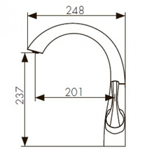 Смеситель KAISER Comba 48033 хром и 48033-1 бронза для кухни схема