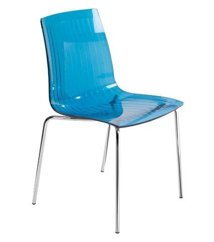 Стул X-Treme S (Papatya) 40 Blue transparent - Синий прозрачный