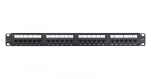 Патч-панель NIKOMAX NMC-RP24UE2-ES-1U-BK