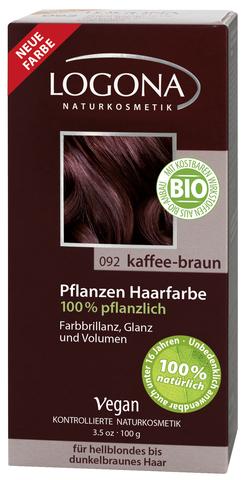 LOGONA растительная краска для волос 092 «КОФЕЙНО-КОРИЧНЕВЫЙ»