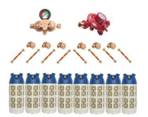 Газобаллонная система GOK (премиум) для подключения 8 композитных баллонов