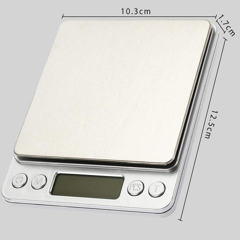 Весы-мини, пластик-металл, до 2 кг