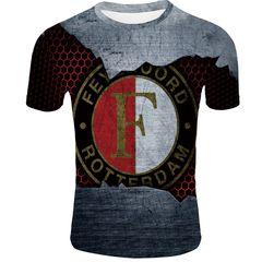 Футболка 3D принт, ФК Фейеноорд  (3Д Feyenoord Rotterdam) 05