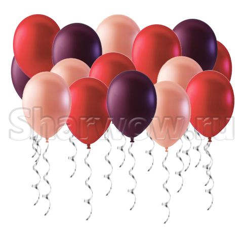 воздушные шары красный розовый винный Сакура