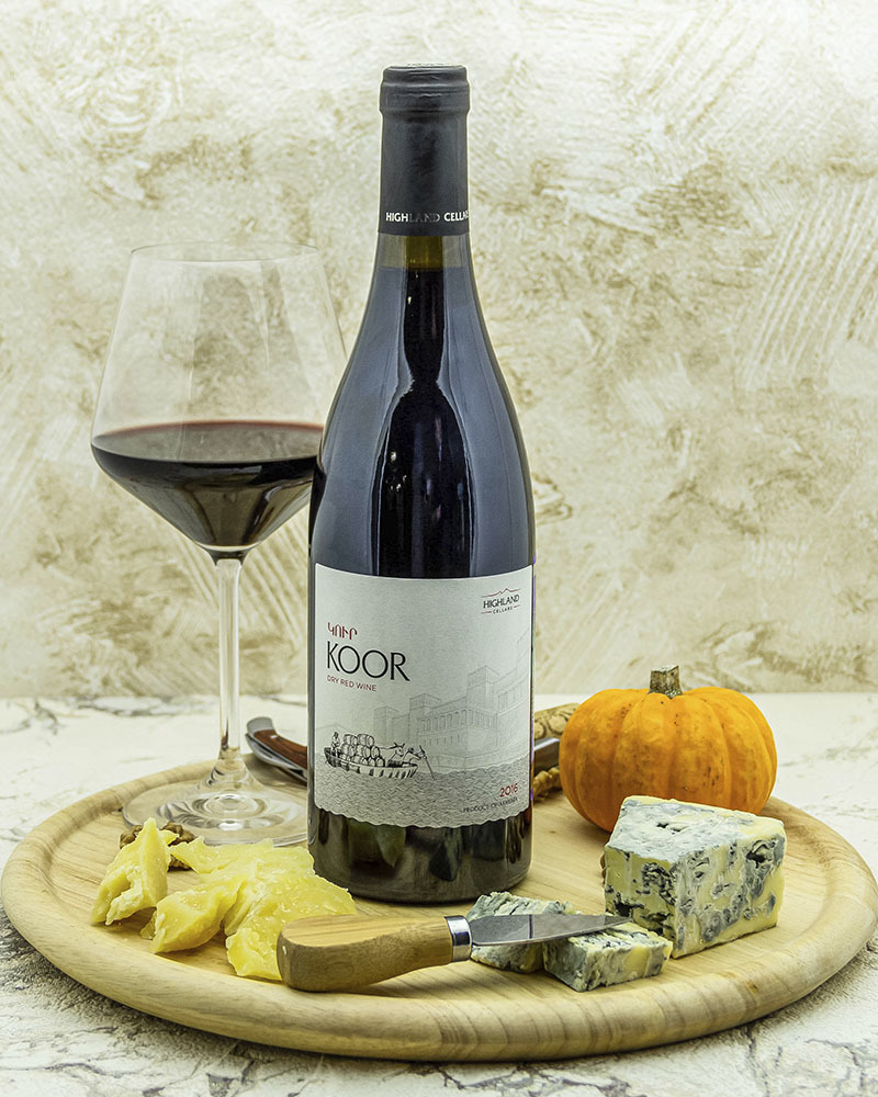 Вино Koor Красное Сухое 2016 г.у. 13,0% 0,75 л.