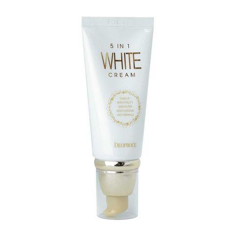 Многофункциональный отбеливающий крем DEOPROCE 5 In 1 White Cream