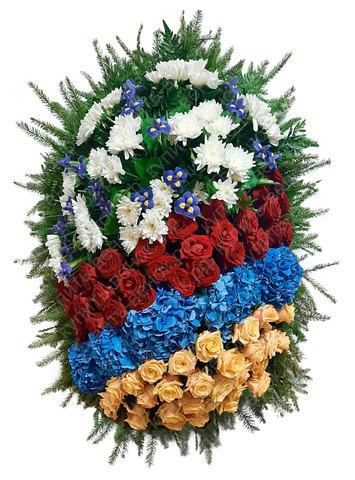 Траурный венок из живых цветов